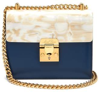 Mark Cross Zelda Plexi And Leather Bag - Womens - Navy