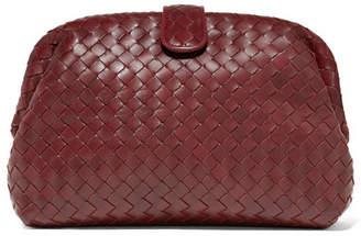 Bottega Veneta Lauren 1980 Intrecciato Leather Clutch - Burgundy