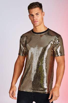 boohoo Square Sequin Party T-Shirt
