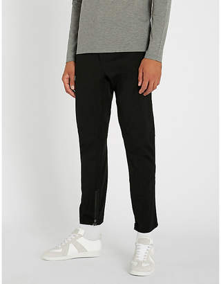 Lanvin Striped slim-fit tapered stretch-wool cropped trousers