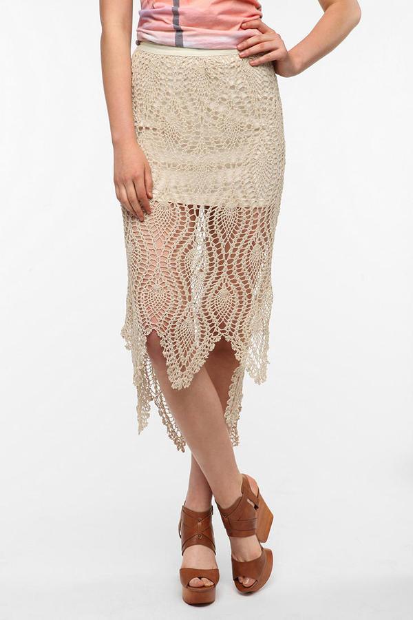 Ecote Crochet Midi Skirt