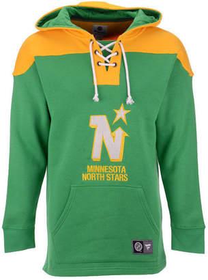 Majestic Men Minnesota North Stars Breakaway Lace Up Hoodie