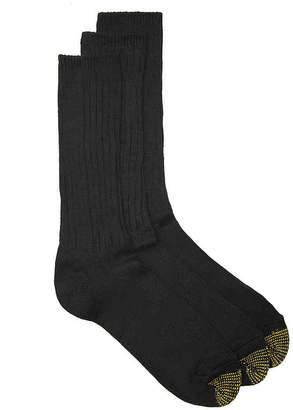 Gold Toe Cotton Fluffie Dress Socks - 3 Pack - Men's