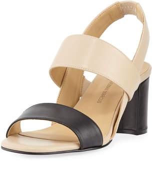 Neiman Marcus Levina Two-Tone Slingback Sandal