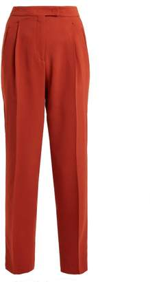 Etro - High Rise Peg Leg Trousers - Womens - Brown