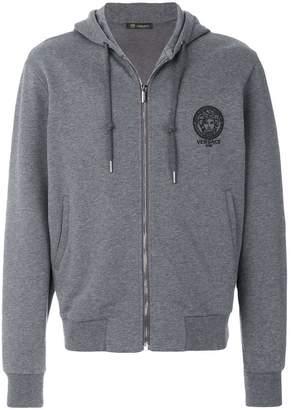 Versace Medusa logo zipped hoodie