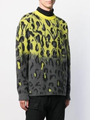 System leopard print knit jumper