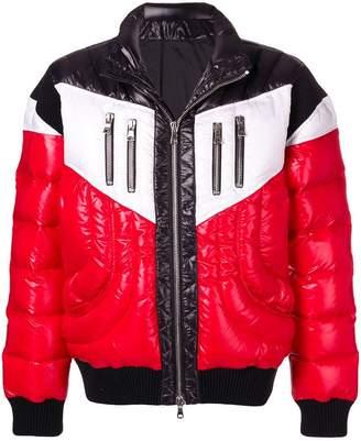 Balmain biker down jacket