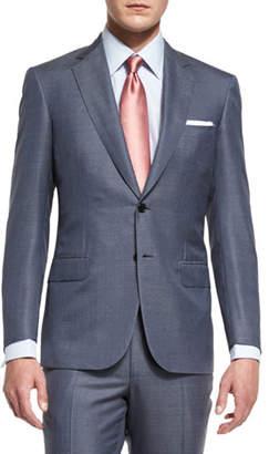Brioni Colosseo Mini-Chevron Two-Piece Suit, Gray $5,725 thestylecure.com
