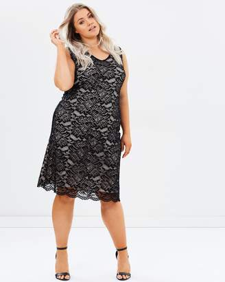 Evans Sleeveless Lace Dress