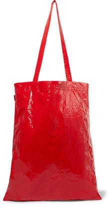 Farah Sies Marjan Crinkled-vinyl Tote - Crimson