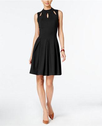 Alfani Mock-Neck A-Line Dress, Only at Macy's $99.50 thestylecure.com