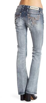Rock Revival Rhinestone Accented Bootcut Jeans
