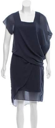 Helmut Lang Ruffle-Trimmed Knee-Length Dress w/ Tags
