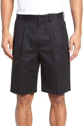 Nordstrom Pleated Supima(R) Cotton Shorts