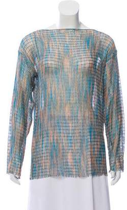 Missoni Long Sleeve Pointelle Top