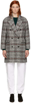 Etoile Isabel Marant Black and White Ebra Coat