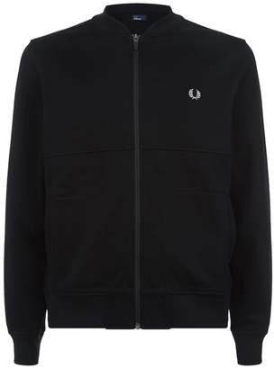 Fred Perry Panelled Knit Bomber Jacket