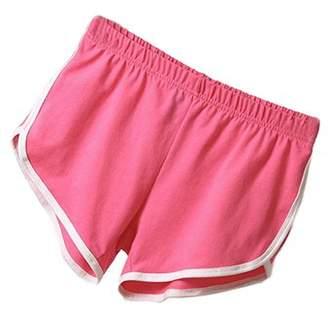 Babula Women High Waist Sports Yoga Hot Pants Shorts