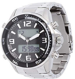 Steel by Design Stainless Steel Bold Digital Panther Link Watch
