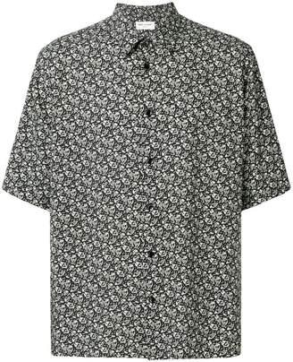 Saint Laurent printed short sleeved shirt