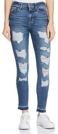 GUESS 1981 Destroyed Skinny Jeans in Bayside Light