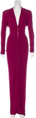 Roland Mouret Long Sleeve Maxi Dress