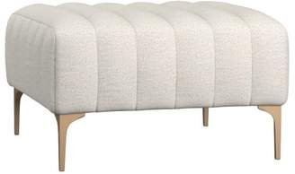 Pottery Barn Teen Avalon Lounge Collection, Ottoman, Tweed Ivory, IDS