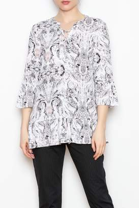 Tribal Lace Up Top