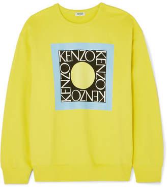 Kenzo (ケンゾー) - KENZO - Comfort Printed Cotton-jersey Sweater - Yellow