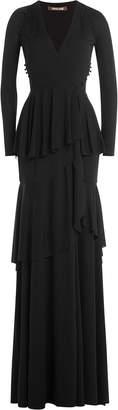 Roberto Cavalli Tiered Evening Gown