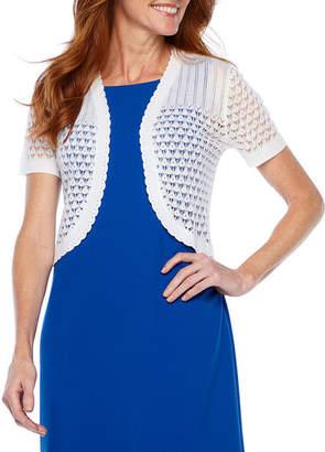 Ronni Nicole Womens Short Sleeve Shrug