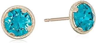 Swarovski 10k Yellow Gold Round Cultured June Birthstone Earrings