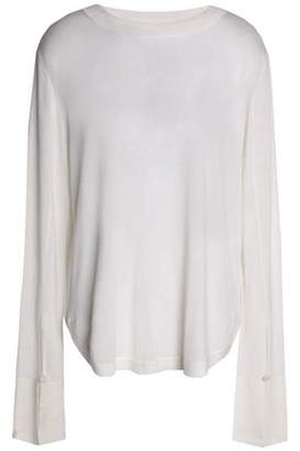 Chloé Wool, Silk And Cashmere-blend Top