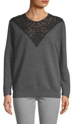 Stella McCartney Long-Sleeve Ribbed Lace Top
