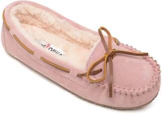 Minnetonka Women's Junior Trapper Suede Moccasin Slippers