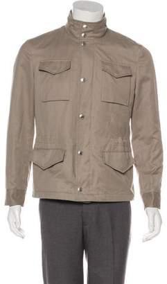 Brunello Cucinelli Hooded Twill Field Jacket