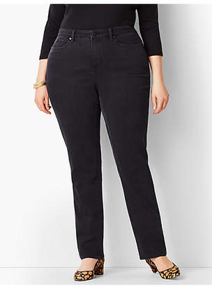 Talbots Plus Size Exclusive High-Rise Straight-Leg Jeans - Curvy Fit/Galaxy Wash