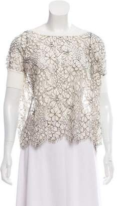 Valentino Lace Embroidered Blouse
