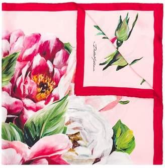 Dolce & Gabbana Majolica-print twill scarf