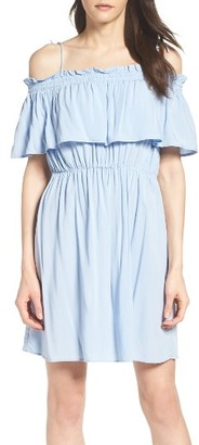 Women's Bardot Chelsea Ruffle Bodice Off The Shoulder Dress $79 thestylecure.com