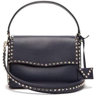 Valentino Rockstud Leather Cross Body Bag - Womens - Navy
