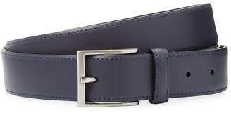 a. testoni Men's Solid Leather Belt