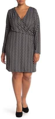 Tart April Long Sleeve Shift Dress (Plus Size)