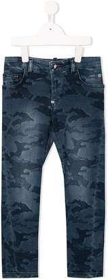 Philipp Plein Junior camouflage pattern jeans