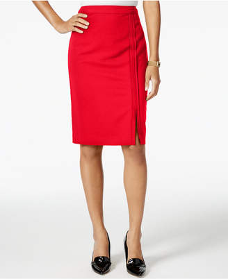 Tommy Hilfiger Pipe-Trim Pencil Skirt $69 thestylecure.com