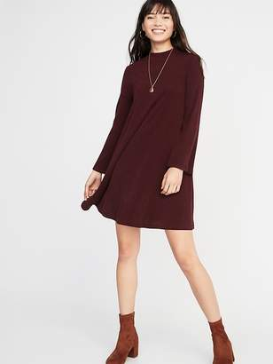 Old Navy Mock-Neck Rib-Knit Swing Dress for Women