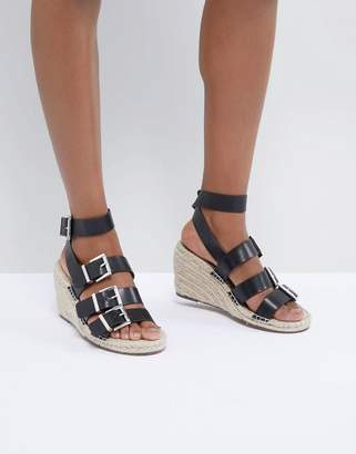 Asos DESIGN Tamia Multi Buckle Espadrille Wedges
