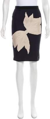 Giambattista Valli Silk Abstract Skirt