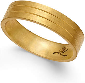 Macy's Three-Row Wedding Band in 18k Gold
